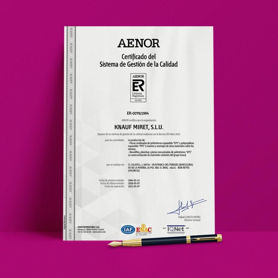 CERTIFICADOS ISO 9001 KNAUF INDSUTRIES